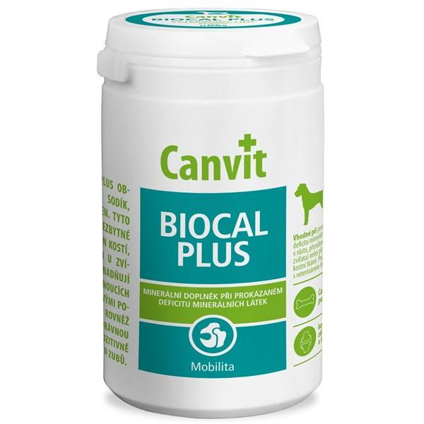 Tablety Canvit Biocal Plus pro psy 500g new