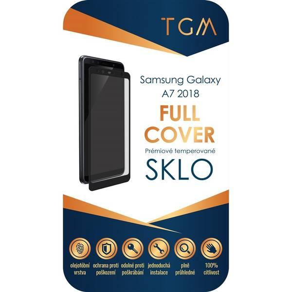 Ochranné sklo TGM Full Cover pro Samsung Galaxy A7 (2018) (TGMSMA7BK) černé