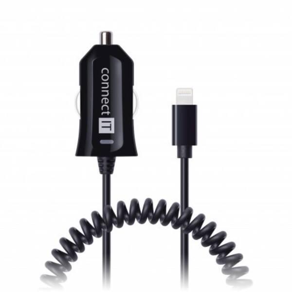 Nabíječka do auta Connect IT Apple Lightning, 2,4A (CI-435) černá (vrácené zboží 8800308181)