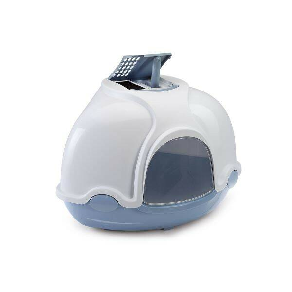 Toaleta Argi rohová s filtrem modrá - 52 x 52 x 44,5 cm