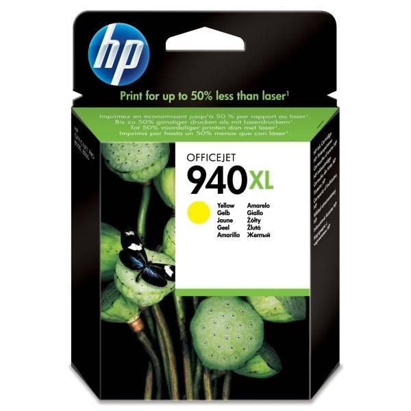 Inkoustová náplň HP No. 940XL, 1400 stran - originální (C4909AE) žlutá