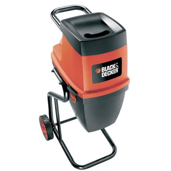 Drvič zahradného odpadu Black-Decker GS2400 čierny/červený