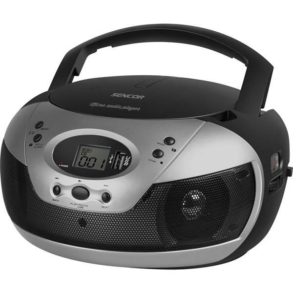 Radiopřijímač s CD Sencor SPT 229 B černý/stříbrný (Náhradní obal / Silně deformovaný obal 8800262041)