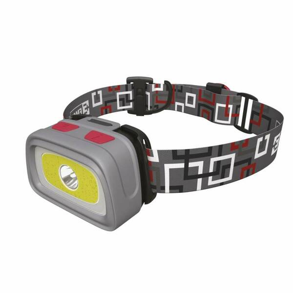 Čelovka EMOS 3x AAA, 1x COB + 1x CREE LED (1441233110) šedá