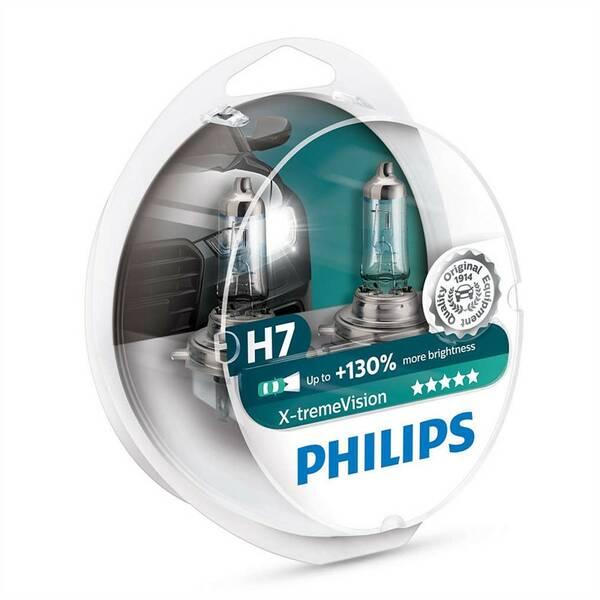 Autožárovka Philips X-tremeVision H7, 2 ks (12972XV+S2)