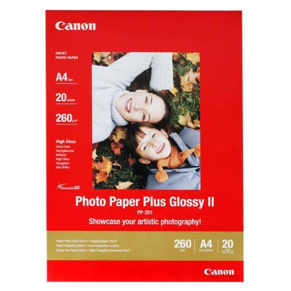 Fotopapír Canon PP201 A4, 260g, 20 listů (2311B019) bílý