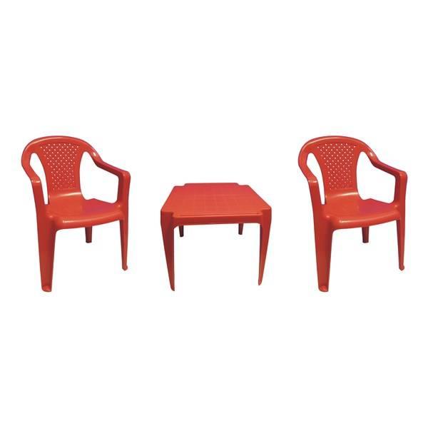Zahradní nábytek IPAE dětský - plast/červený