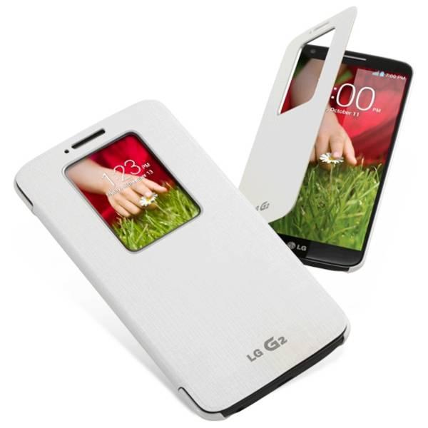 Pouzdro na mobil flipové LG Quick Window pro G2 (CCF-240G.AGEUWH) bílé