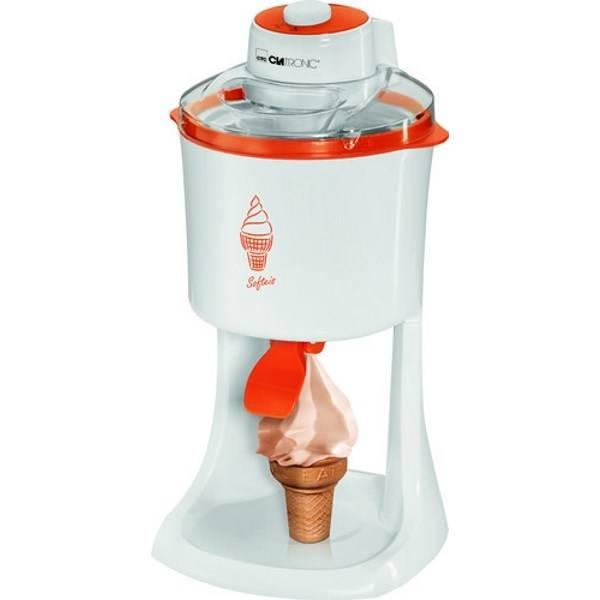 Zmrzlinovač Clatronic ICM 3594 biely/oranžový