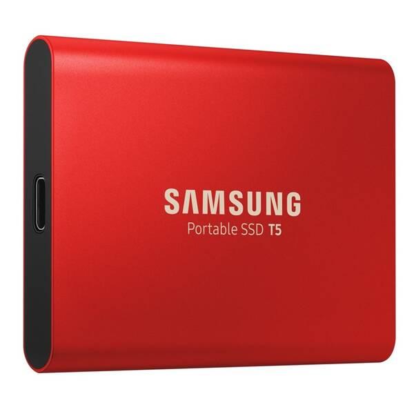 SSD externí Samsung T5, 1TB (MU-PA1T0R/EU) červený