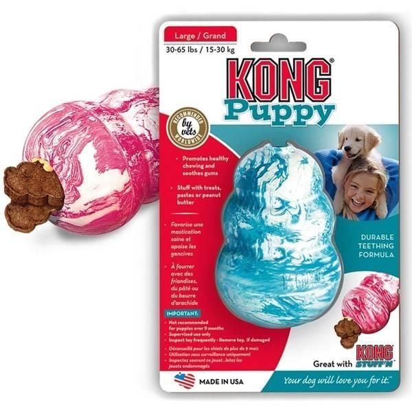 Hračka Kong Puppy Classic L tyrkysová