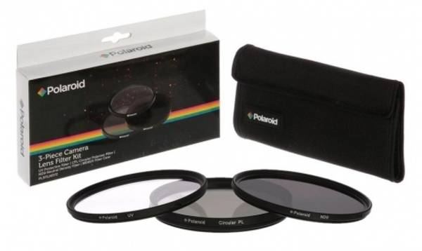 Filtr Polaroid 55mm (UV MC, CPL, ND9), set 3ks (PL3FILND55) černý