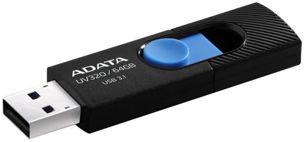 USB Flash ADATA UV320 64GB (AUV320-64G-RBKBL) černý/modrý