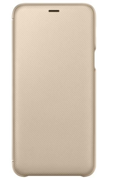 Pouzdro na mobil flipové Samsung Wallet Cover pro Galaxy A6+ (EF-WA605CFEGWW) zlaté