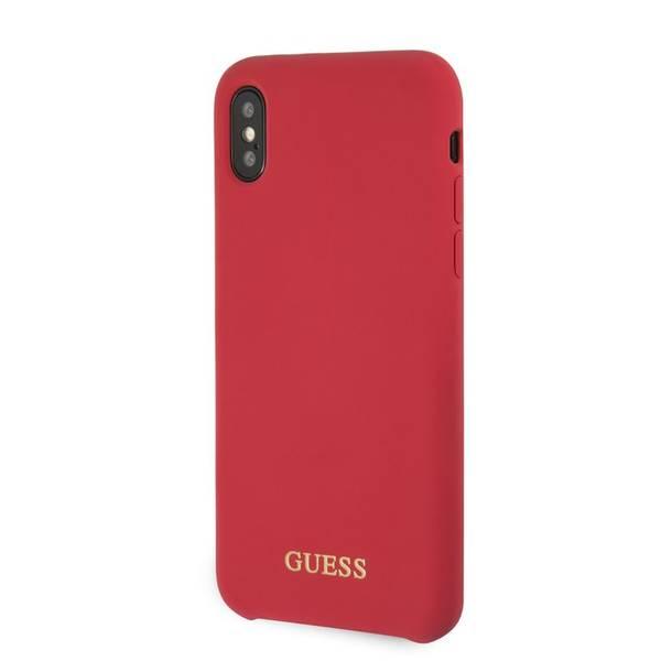 Kryt na mobil Guess Silicone Cover pro Apple  iPhone X/XS (GUHCPXLSGLRE) červený
