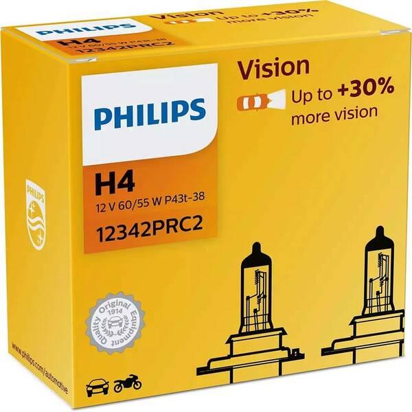Autožiarovka Philips Vision H4, 2 ks (12342PRC2)