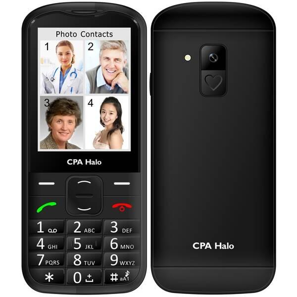 Mobilní telefon CPA Halo 18 Senior s nabíjecím stojánkem (TELMY1018BK) černý
