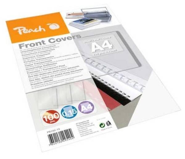 Vázací set Peach přední desky, A4, 100ks průhledná