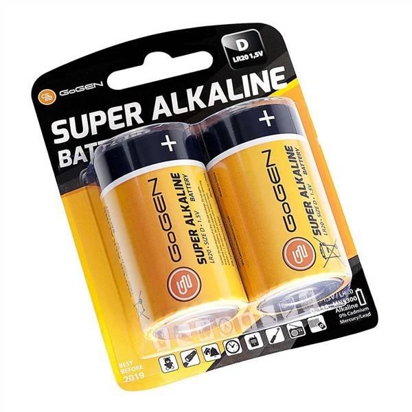 Baterie alkalická GoGEN SUPER ALKALINE D, LR20, blistr 2ks (GOGR20ALKALINE2)