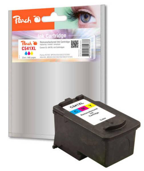 Inkoustová náplň Peach Canon CL-541XL, 400 stran, (316478) červená/modrá/žlutá