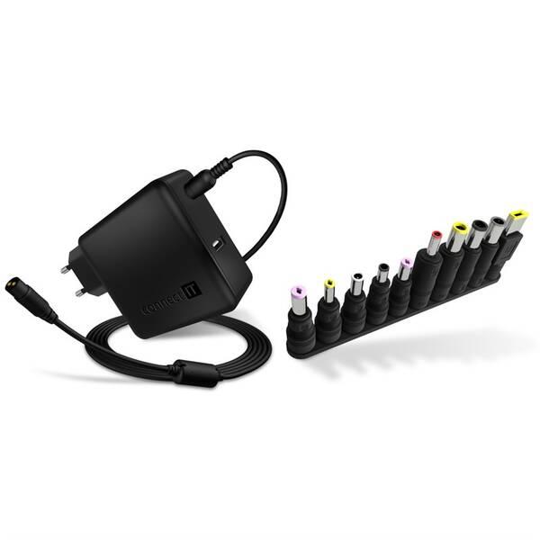 Napájecí adaptér Connect IT NomadPower univerzální pro notebooky 65 W + extra USB port (CNP-1650-BK) (vrácené zboží 8800687490)