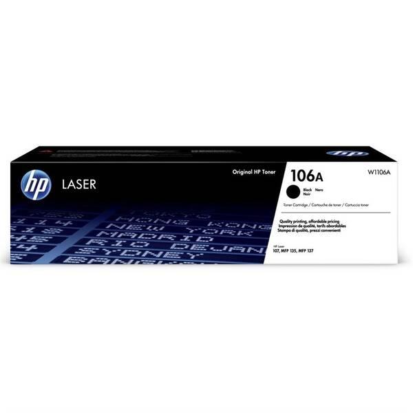 Toner HP 106A, 1000 stran (W1106A) černý
