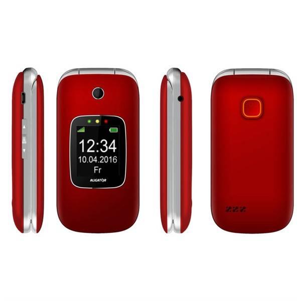 Mobilní telefon Aligator V650 Senior (AV650RS) stříbrný/červený (vrácené zboží 8800203586)