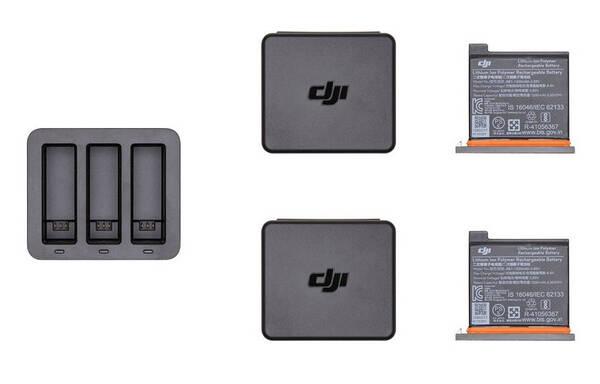 Nabíječka DJI pro Osmo Action, nabíječka + 2 baterie (DJI0630-02)