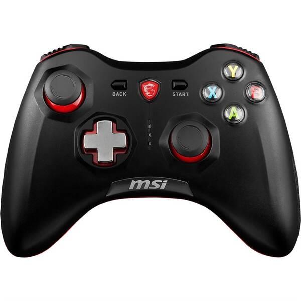 Gamepad MSI Force GC30, bezdrátový, pro PC, PS3, Android (S10-43G0010-EC4) černý