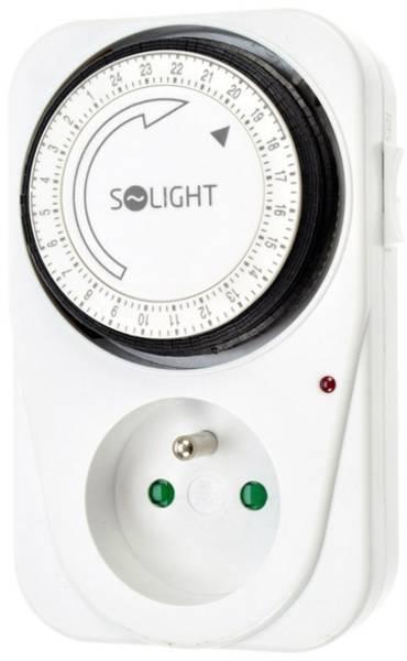 Spínač časový Solight DT01, denní s vypínačem (354983) bílé