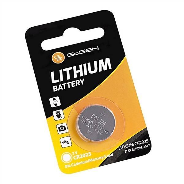 Batéria lítiová GoGEN CR2025, blistr 1ks (GOGCR2025LITHIUM1)