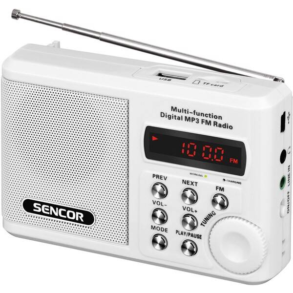 Radiopřijímač Sencor SRD 215 W bílý