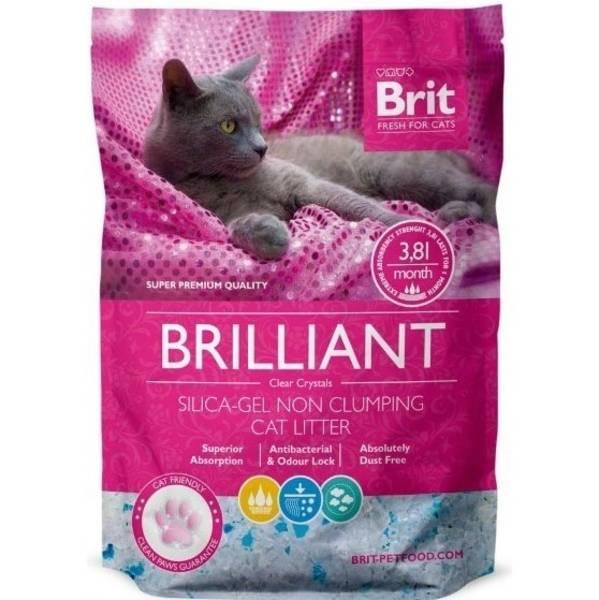 Kočkolit Brit Care Brilliant Silica - Gel 7,6l