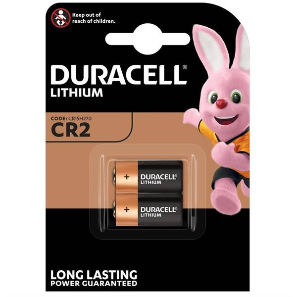 Baterie alkalická Duracell CR2, blistr 2ks (vrácené zboží 8800667296)