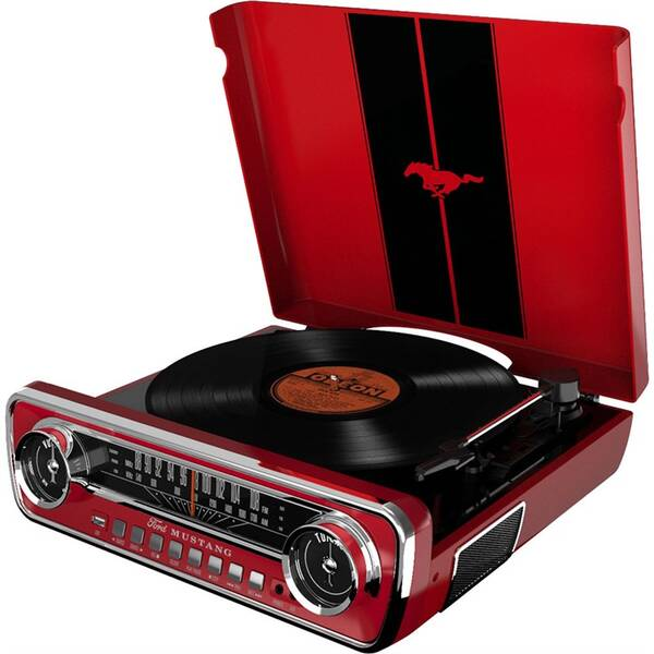 Gramofon ION Mustang Lp červený