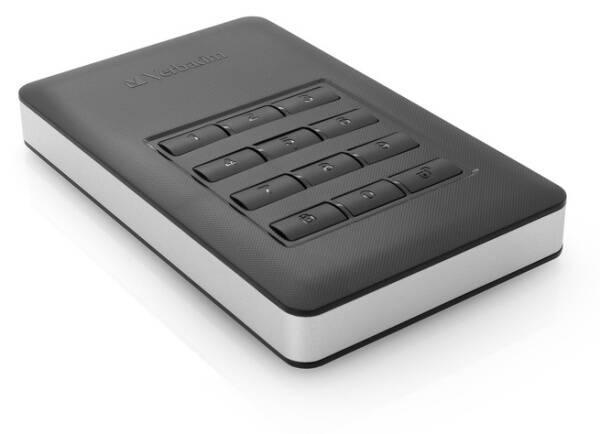 Externý pevný disk Verbatim Store 'n' Go 1TB, s numerickou klávesnicí pro šifrování strieborný/sivý