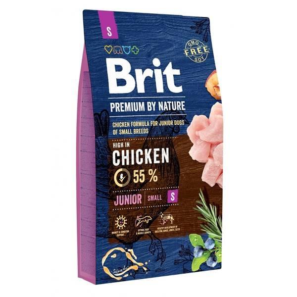 Granule Brit Premium Dog by Nature Junior S 8 kg