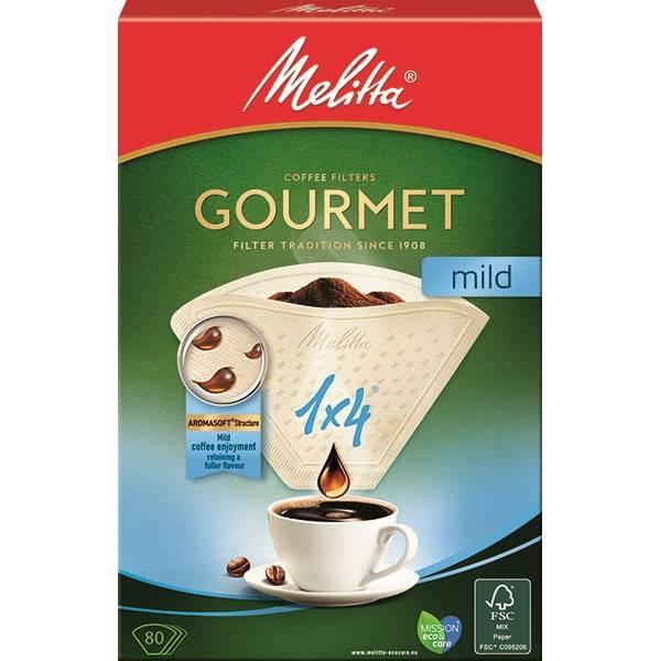 Filtr Melitta 1 x 4, 80 ks Gourmet Mild (160390)