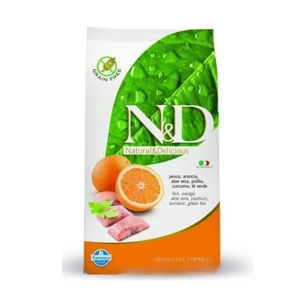Granule N&D Grain Free CAT Adult Fish & Orange 5 kg