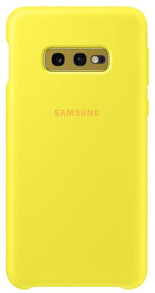 Kryt na mobil Samsung Silicon Cover pro Galaxy S10e (EF-PG970TYEGWW) žlutý