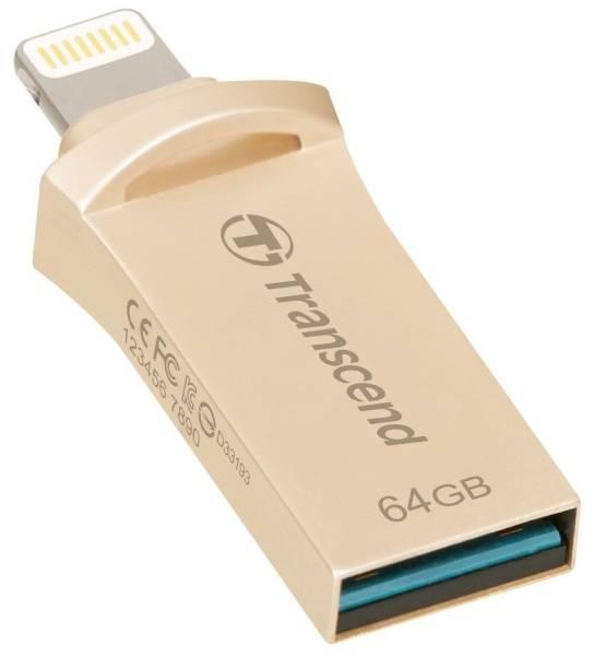 USB Flash Transcend JetDrive Go 500 64GB (TS64GJDG500S) stříbrný