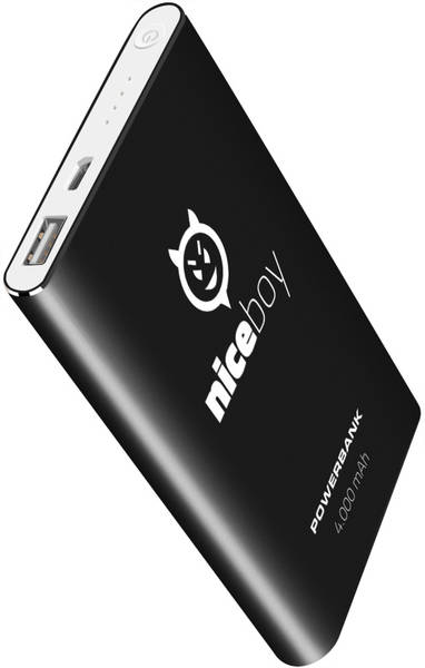 Power Bank Niceboy 4000 mAh (power-4k) čierna