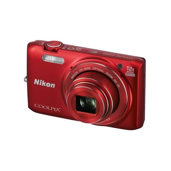 Digitální fotoaparát Nikon Coolpix S6800 červený