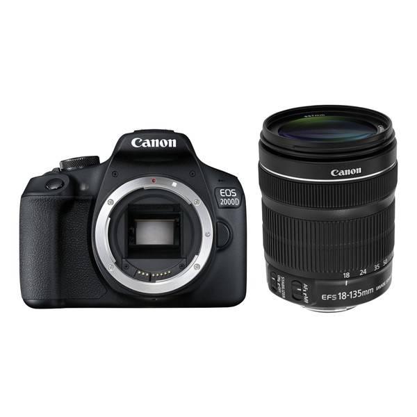 Digitální fotoaparát Canon EOS 2000D + 18-135 IS STM (2728C016AA) černý (vrácené zboží 8800334180)