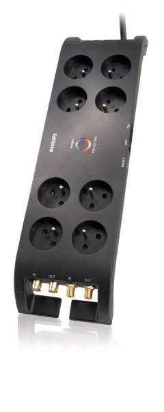 Přepěťová ochrana Philips 8 zásuvek 3m 3600J