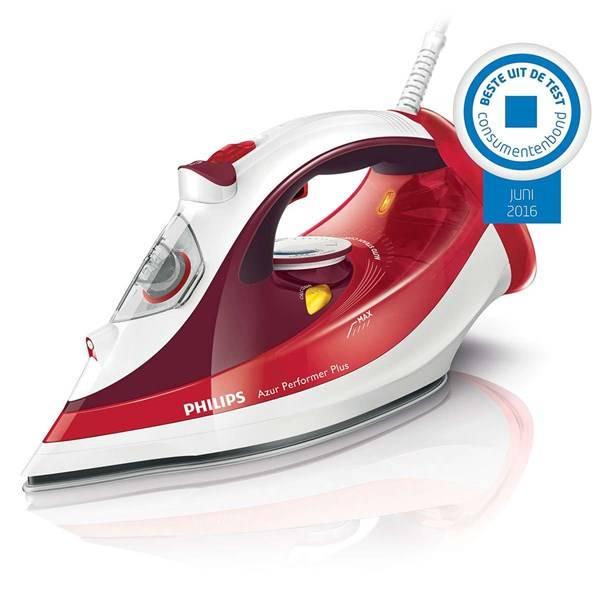 Žehlička Philips Azur Performer Plus GC4516/40 červená