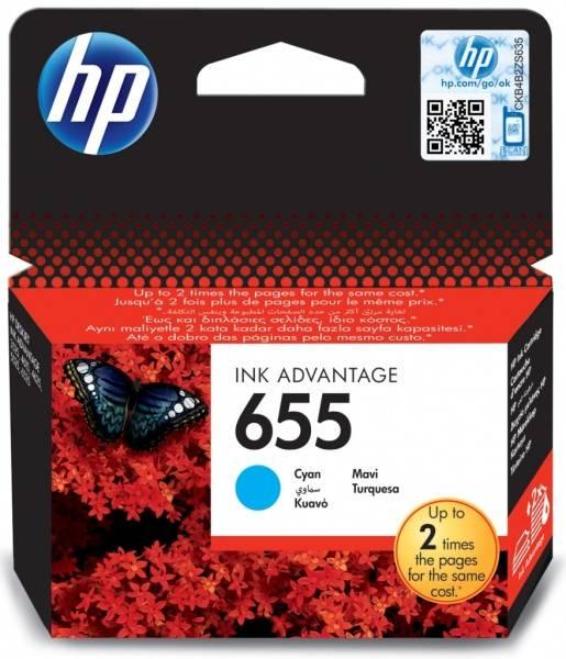 Inkoustová náplň HP No. 655, 600 stran - originální (CZ110AE) modrá