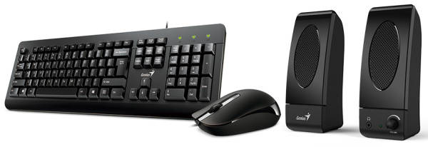 Klávesnice s myší Genius KMS U130 + reproduktory (31280005403) černá