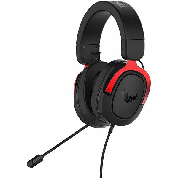 Headset Asus TUF Gaming H3 (90YH02AR-B1UA00) černý/červený