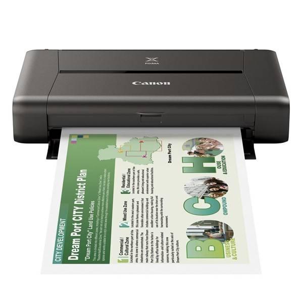 Tiskárna inkoustová Canon PIXMA iP110 + baterie (9596B029AA) černá